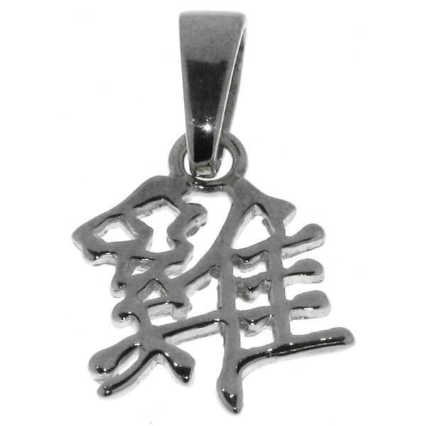 Anhänger Hahn - Chinesisches Tierkreiszeichen Sternzeichen echt Silber