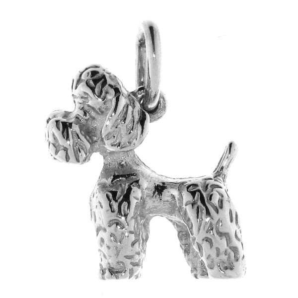 Anhänger Pudel Zwergpudel Hunderasse massiv echt Silber