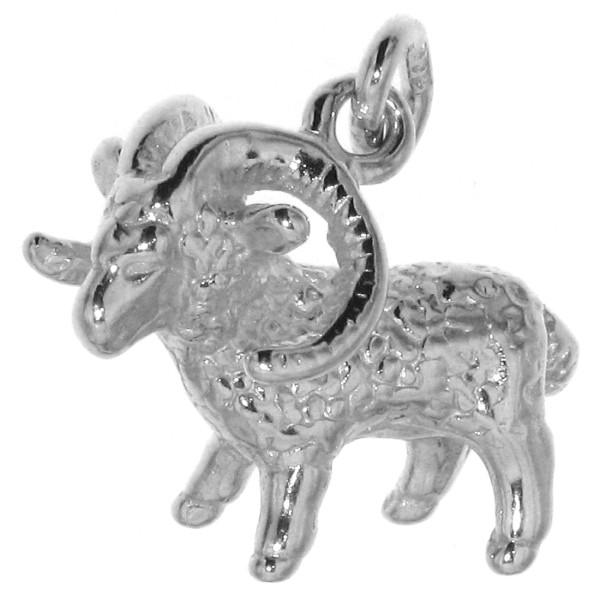 Anhänger Widder Tierkreiszeichen Sternzeichen massiv echt Silber