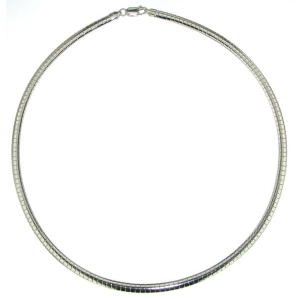 Omegareif 4 mm breit Halskette Collierkette echt Silber