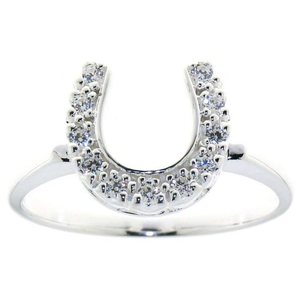 Ring mit Zirkonia Hufeisen echt Silber