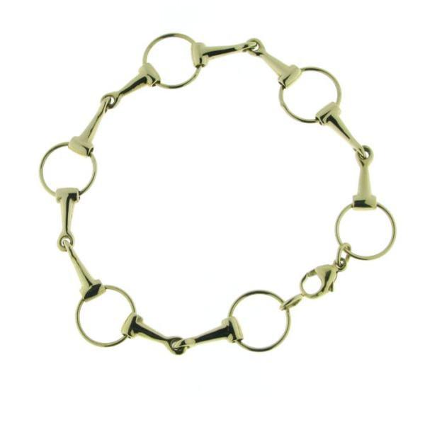 Armband 5 Trensengebisse Trensenarmband massiv echt Silber goldplattiert