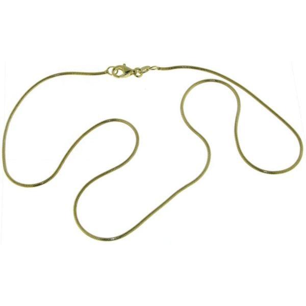 Collierkette Schlangenkette 1,2 mm 925/- Sterling goldplattiert