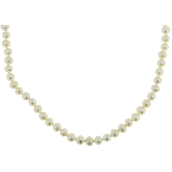 Perlenkette aus echten Zuchtperlen weiß 5-6mm - Sonderpreis