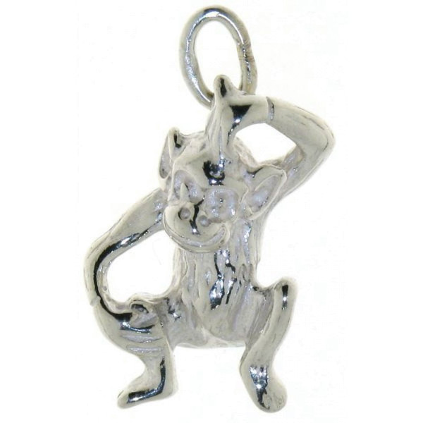 Anhänger Affe massiv echt Silber