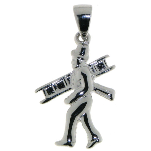 Anhänger Kaminfeger Schornsteinfeger zierlich massiv echt Silber