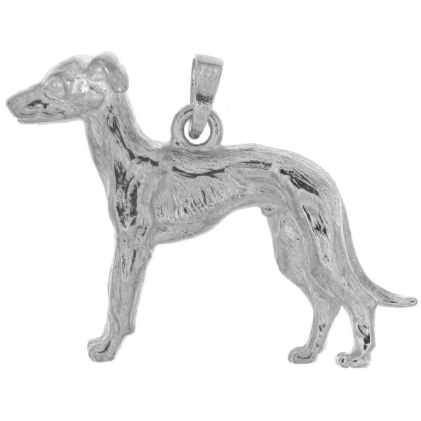 Anhänger Windhund Barsoi Hunderasse groß schwer massiv echt Silber