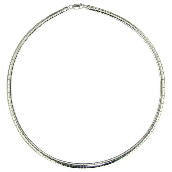 Omegareif 4 mm breit Halsreif Halskette Collierkette echt Silber