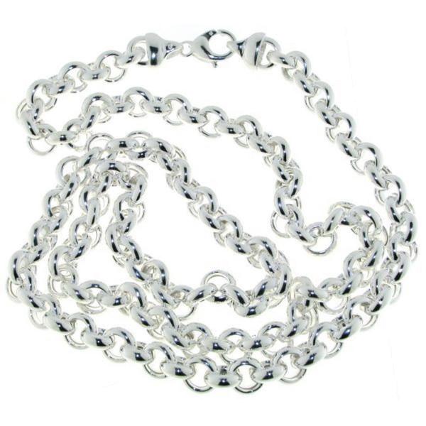 Erbskette lang 10 mm stark 925/- Sterlingsilber