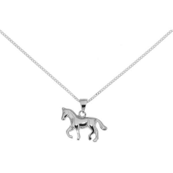 Anhänger Pony Pferdchen Fohlen Pferd massiv echt Silber mit Kette - Sonderpreis
