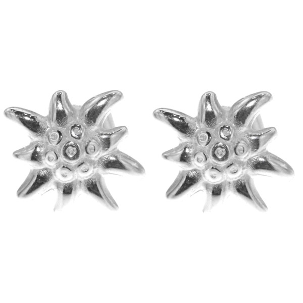 Ohrstecker Ohrschmuck Edelweiß-Blüte Edelweiss echt Silber