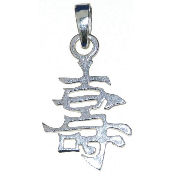 Anhänger Chinesisches Zeichen für Langes Leben massiv echt Silber