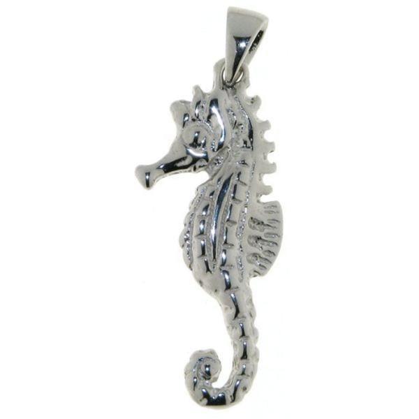 Anhänger Seepferd Seepferdchen massiv echt Silber