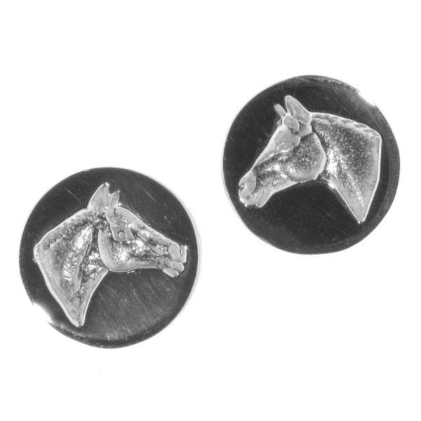 Ohrstecker Pferdekopf moderne Art wie Siegelring massiv echt Silber
