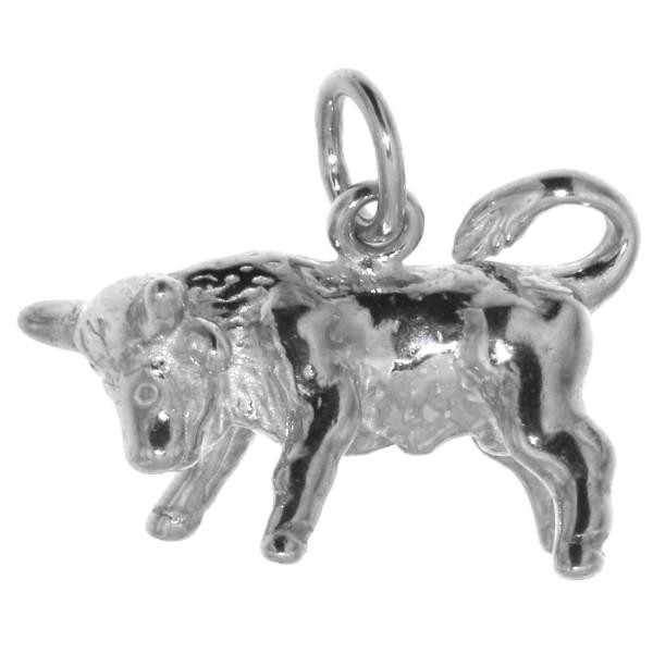 Anhänger Stier Tierkreiszeichen Sternzeichen massiv echt Silber