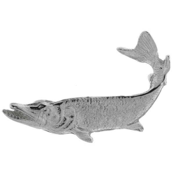 Anhänger Hecht Fisch massiv echt Silber