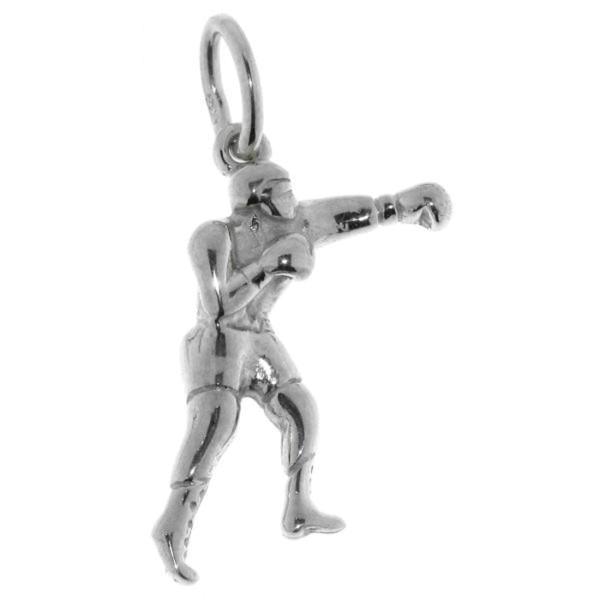 Anhänger Boxer Box-Sport massiv echt Silber