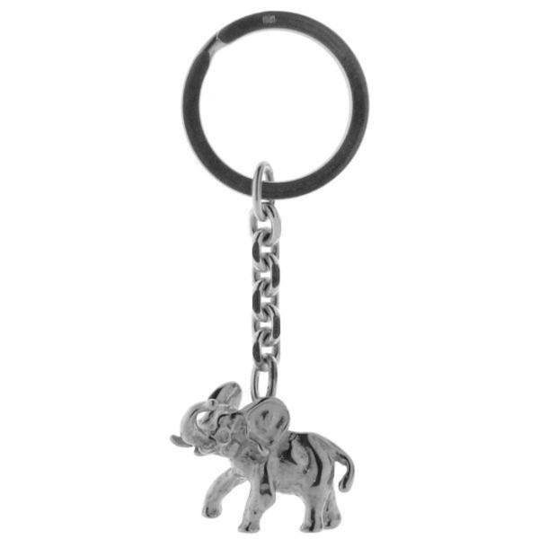 Schlüsselanhänger Elefant schwer massiv komplett echt Silber