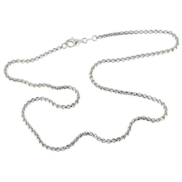 Collierkette Venezia rund 2,5 mm stark 925/- Sterlingsilber