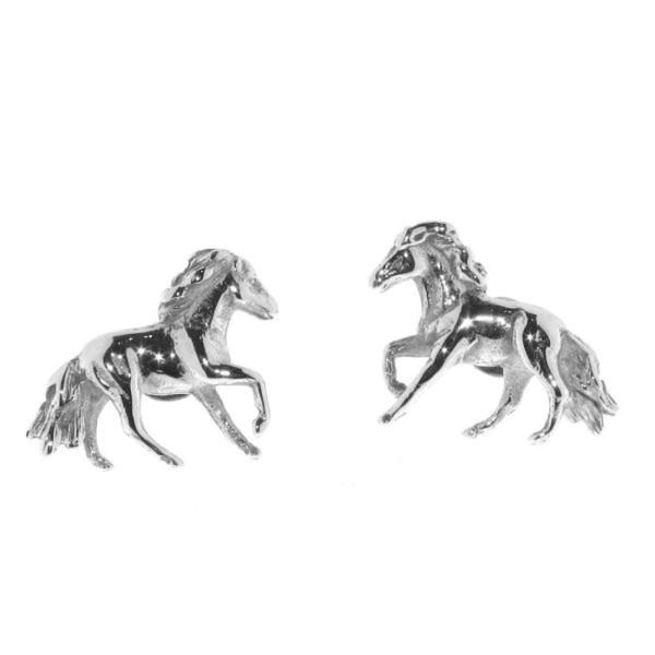 Ohrstecker Pferdchen Pferde massiv echt Silber