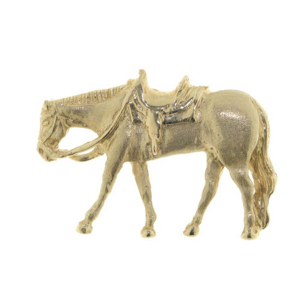 Anhänger Pferd Western Pleasure mattiert - poliert