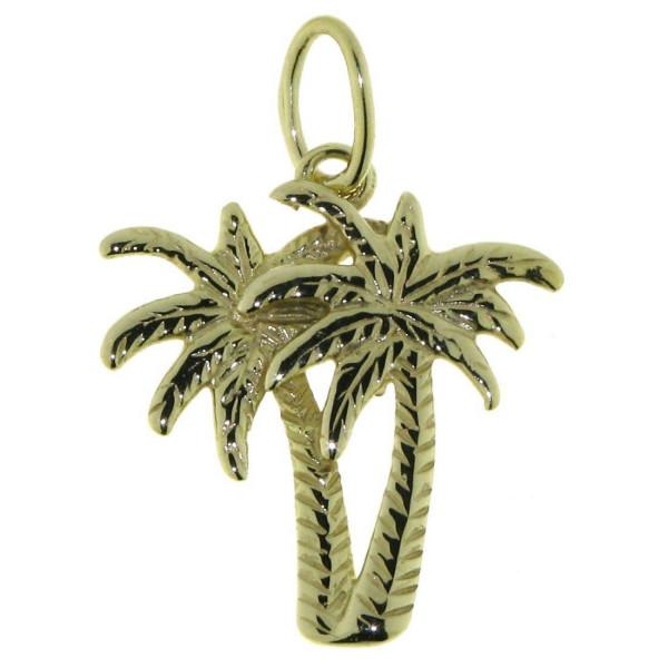 Anhänger Palmen Pflanze Baum massiv echt Gold