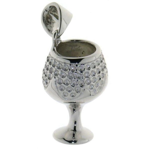 Anhänger Weinkelch Trinkglas massiv echt Silber