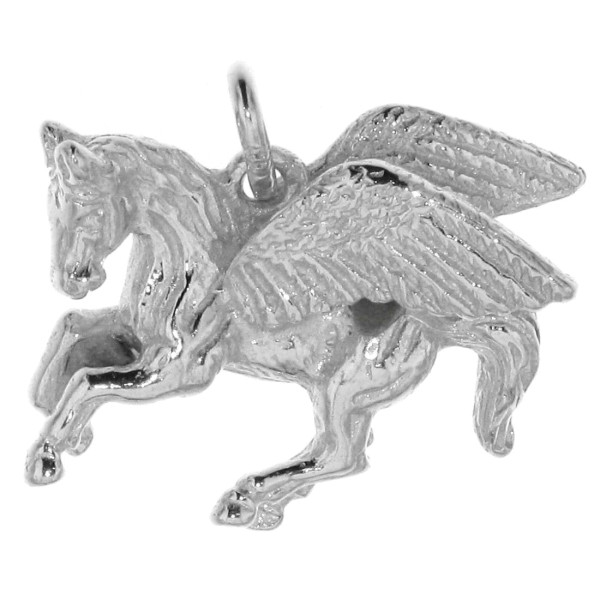 Anhänger Pegasus geflügeltes Pferd Pegasos massiv echt Silber