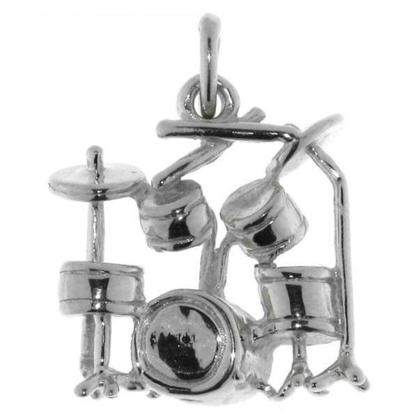 Anhänger Schlagzeug Musikinstrument massiv echt Silber