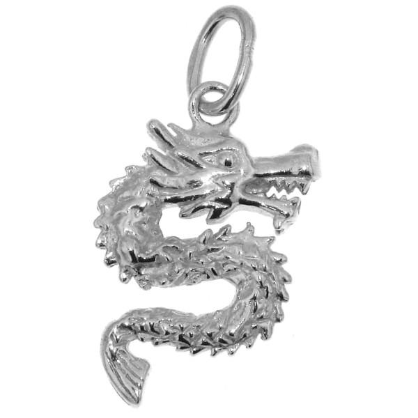 Anhänger Drachen massiv echt Silber