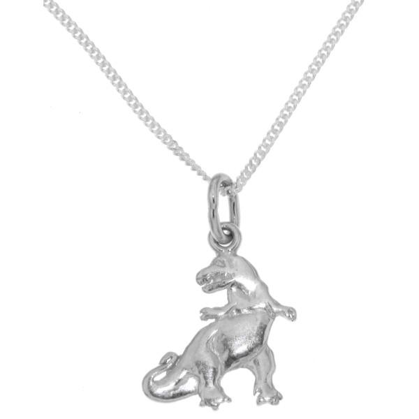 Anhänger Dinosaurier mit Kette massiv echt Silber - Sonderpreis