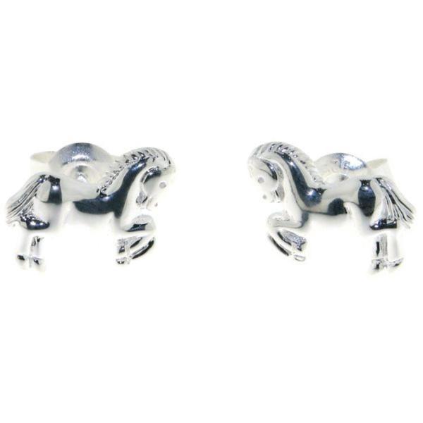 Ohrstecker Pferdchen Pferd Pony massiv echt Silber