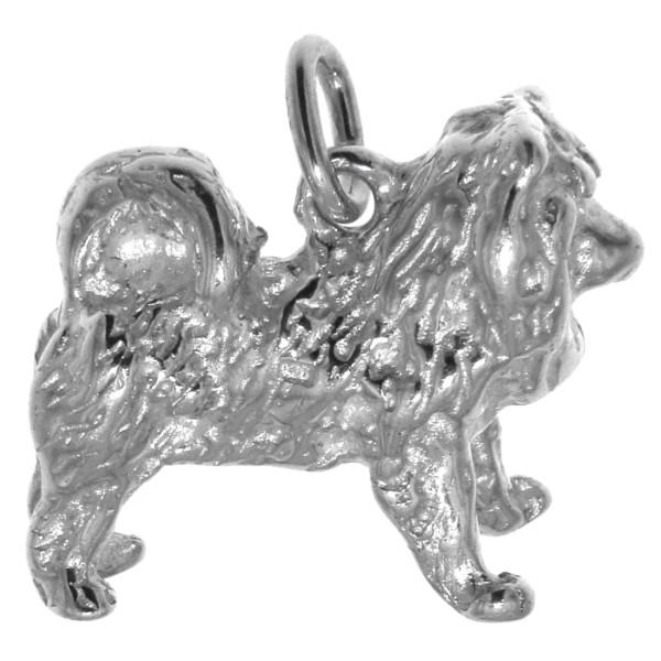 Anhänger Chow-Chow Hunderasse massiv echt Silber