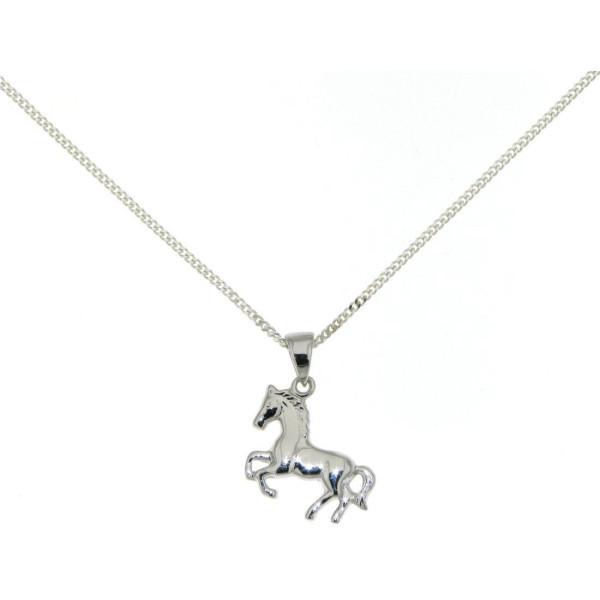 Anhänger Pferdchen Pferd Pony massiv echt Silber mit Kette - Sonderpreis