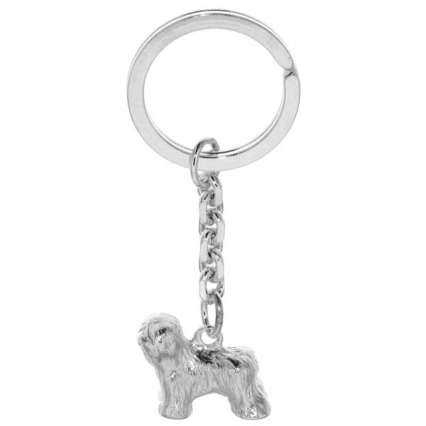 Schlüsselanhänger Bobtail Hunderasse schwer massiv echt Silber
