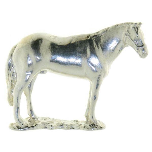 Anhänger Pferd auf Wiese echt Silber