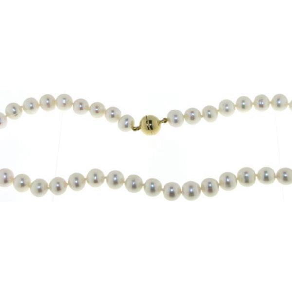 Süßwasserzuchtperlkette mit großen Perlen 8 - 9 mm