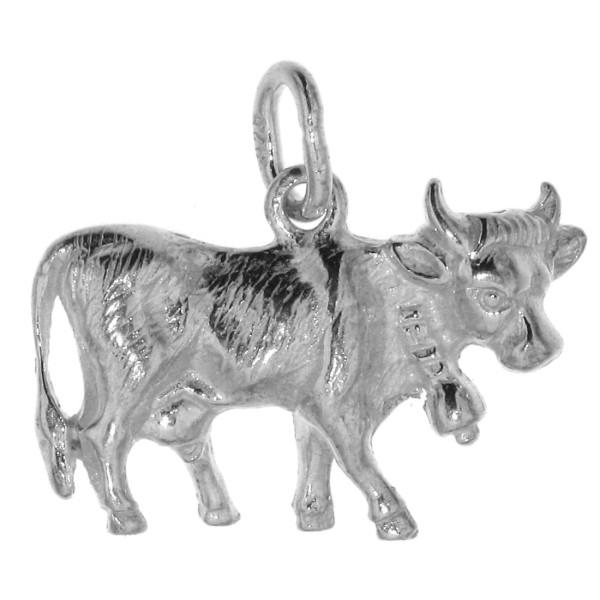 Anhänger Kuh Rind massiv echt Silber