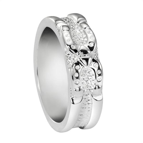 Ring mit 2 Hufeisen schwer massiv echt Silber Hufeisen-Bandring