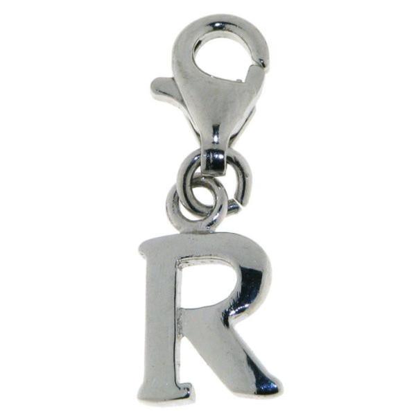Charm Buchstabe R massiv echt Silber