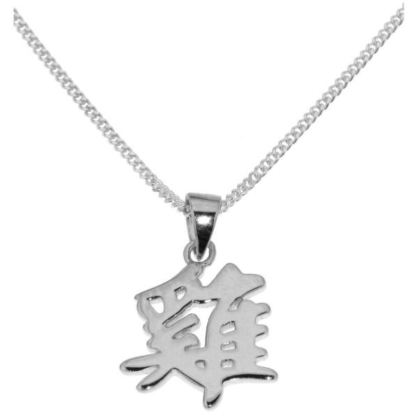 Anhänger Hahn Chinesisches Tierkreiszeichen echt Silber mit Kette Sternzeichen