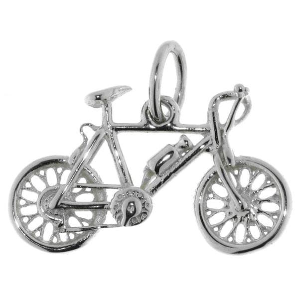 Anhänger Fahrrad massiv echt Silber