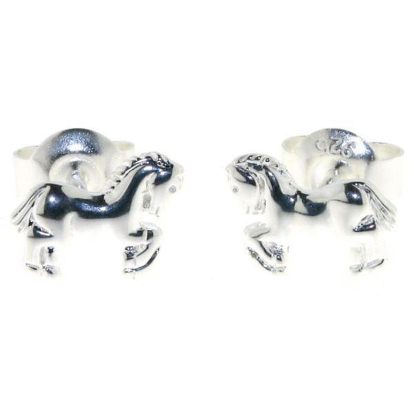 Ohrstecker Pferdchen Pony klein massiv echt Silber