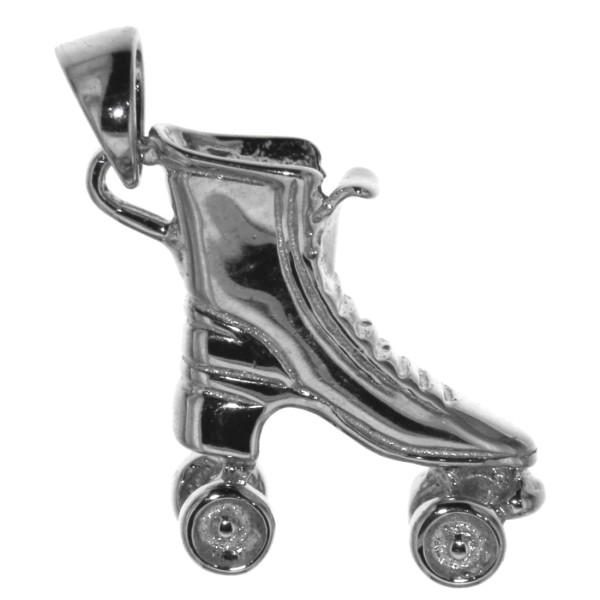 Anhänger Rollschuh Rollerskate Sport massiv echt Silber