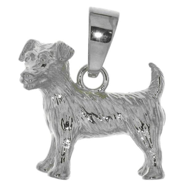 Anhänger Jack-Russel-Terrier Hunderasse massiv echt Silber
