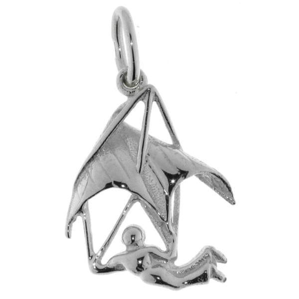 Anhänger Paragliding Gleitschirm-Fliegen echt Silber