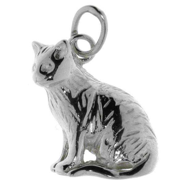 Anhänger Katze Kater Kitty Perserkatze Siamkatze echt Silber