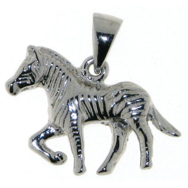 Anhänger Zebra massiv echt Silber