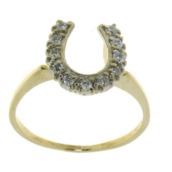 Ring mit Diamant Hufeisen