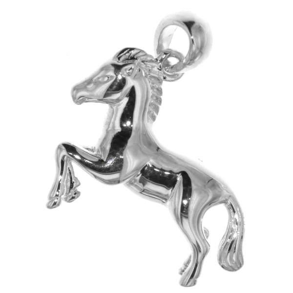 Anhänger Pferd Pferdchen Pony massiv echt Silber